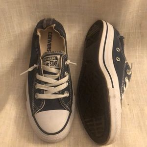 Navy/White Converse Sneakers, Size 6.5